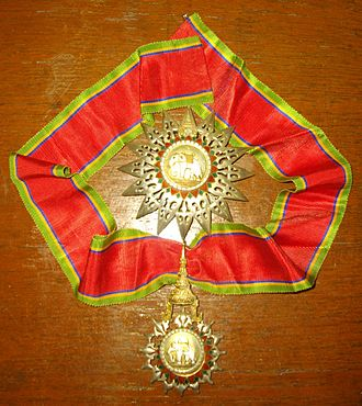 Order of the White Elephant - Image: Knight Commander of the Most Exalted Order of the White Elephant