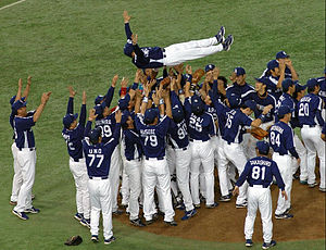 Chunichi Dragons - The Chunichi Dragons after winning the 2007 Japan Series Title