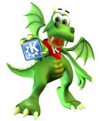 Ο Konqi, η μασκώτ του KDE