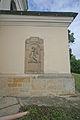 Kostel sv. Jakuba (Metličany) - náhrobek Barbory z Klebornu z roku 1825.JPG