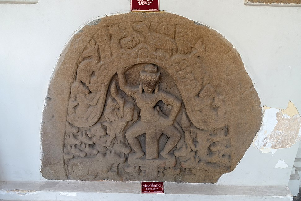 Krishna, Khuong My, 7th-8th century, Quang Nam - Museum of Cham Sculpture - Danang, Vietnam - DSC01580