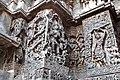 Krishna lifting Govardhan Hill Hoysaleswara Temple Halebid.jpg