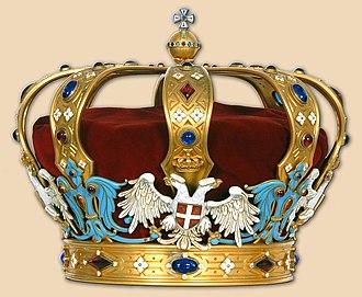 Peter I of Serbia - Karađorđević Crown
