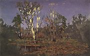 Kuindzhi A forest with a birch 1885 1890.jpg