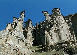 Kula, Manisa - Yanıkyöre rock formations near Kula