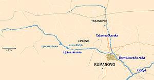 Kumanovska Reka - Map of Kumanovska Reka.