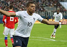 Kylian Mbappe celebrating - March 2018.jpg
