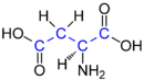 L-Aspartic Acid (blue) Structure V.1.png