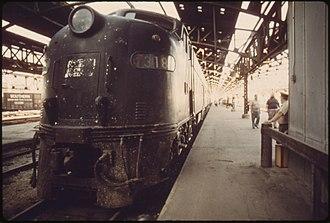 Kansas City Union Station - Loading platform, 1974