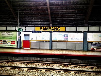 How to get to Bambang Lrt with public transit - About the place