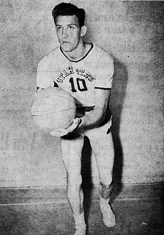 LaDell Andersen - Andersen as a player for the Utah State Aggies men's basketball team, circa 1951.