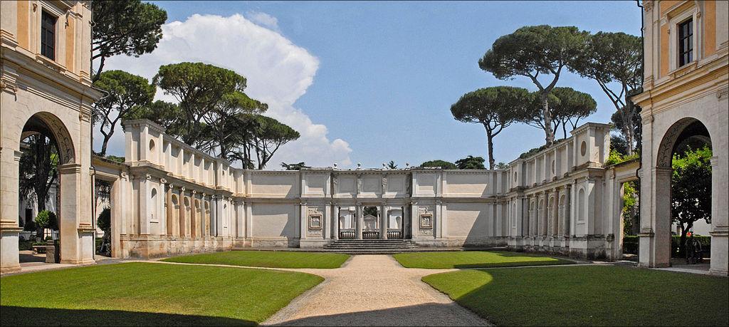 Musée étrusque de Rome : Cour de la Villa Giulia - Photo de Jean Pierre Dalbéra.