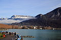 Lac Annecy vu pont Amours.JPG