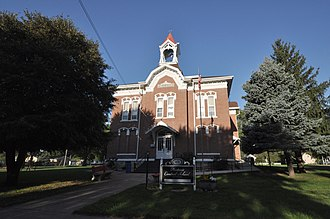 National Register of Historic Places listings in Calhoun County, Iowa - Image: Lake City IA Central School