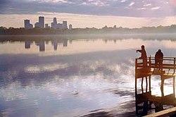 Lake Calhoun and Minneapolis skyline | The Minneapolis skyli… | Flickr