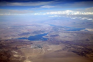Lake Mead reservoir on the Colorado River in the U.S. states of Nevada and Arizona