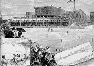 Union Base-Ball Grounds - Lake-Shore Park 1883