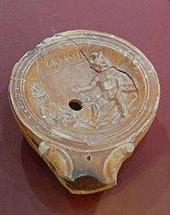Lampe à huile aux gladiateurs (98 10 99)