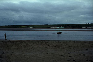 River Feale - Beach seine fishing for salmon in River Feale near by town Ballybunion, year 1975.