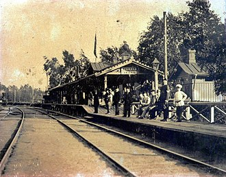 Lanskaya railway station - Lanskaya railway station in 1900-s. Direction to Finlyandsky Rail Terminal