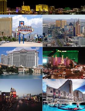 Composite image of the Las Vegas Strip