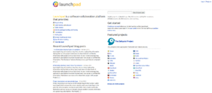 Launchpad (website) - Image: Launchpad.net Homepage screenshot