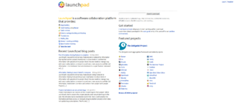 Launchpad (website) - Image: Launchpad.net Homepage screenshot