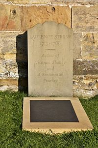 Laurence Sternes' grave, Coxwold churchyard - geograph.org.uk - 1569147.jpg