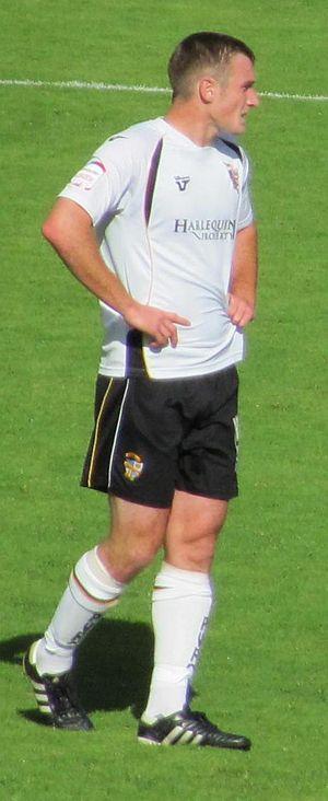Lee Collins (footballer, born 1988) - Collins at Vale Park in a 1–0 September 2010 victory over Aldershot Town.