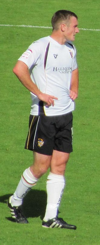Lee Collins (footballer, born 1988) - Collins at Vale Park in a 1–0 September 2010 victory over Aldershot Town.