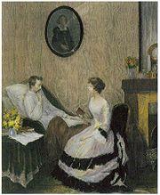 Heinrich Heine und Elise Krinitz, Holzschnitt von Heinrich Lefler (Quelle: Wikimedia)