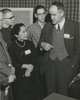 Chien-Shiung Wu - Chien-Shiung Wu (left) with Wallace Brode (right) at Columbia University in 1958.