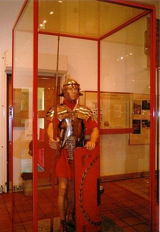 National Roman Legion Museum - Image: Legionary museum model