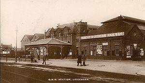 Leicester Belgrave Road railway station - Image: Leicester (Belgrave Road) station (postcard)