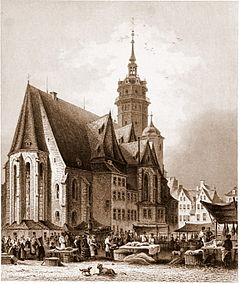 St. Nicholas Church, Leipzig, c. 1850 (Source: Wikimedia)