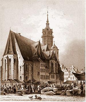 Thomaskantor - Image: Leipzig Nikolaikirche um 1850