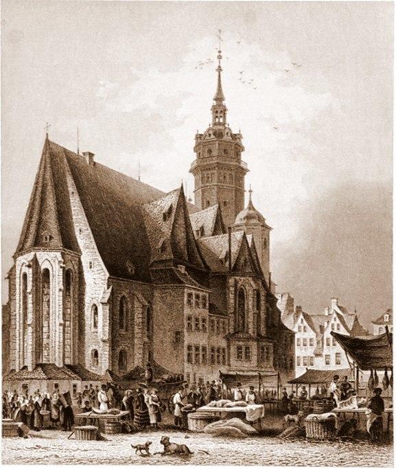 Leipzig Nikolaikirche um 1850