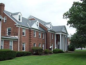 Riverdale Park, Maryland - Leland Hospital, historic architecture in Riverdale Maryland. September 2009