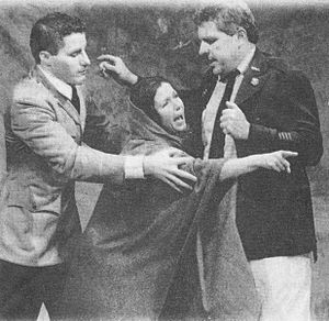 Taking Sides (play) - Lenka Pichlíková (at center) as Tamara Sachs in Taking Sides (Stamford Theatre Works, Connecticut, 1999).