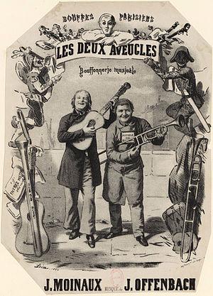 Les deux aveugles - Image: Les deux aveugles 1855 vocal score cover by Loire Gallica
