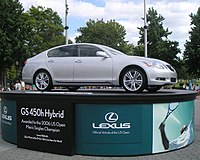 Lexus GS hybrid at the US Open in Flushing Meadows, NY.