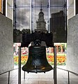 Liberty Bell with Independence hall.jpg