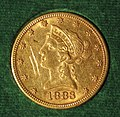 Liberty Eagle $10 gold coin (1883) (obverse) 1.jpg