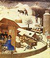 Limbourg brothers - Les très riches heures du Duc de Berry - Fevrier (February), detail - WGA13019.jpg