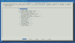 menuconfig for Linux version 3.10.0-rc2