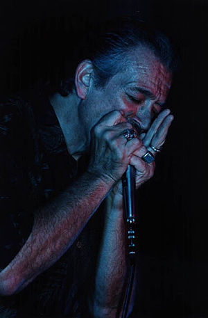 Charlie Musselwhite - Musselwhite at the Liri Blues Festival, Italy, in 2000