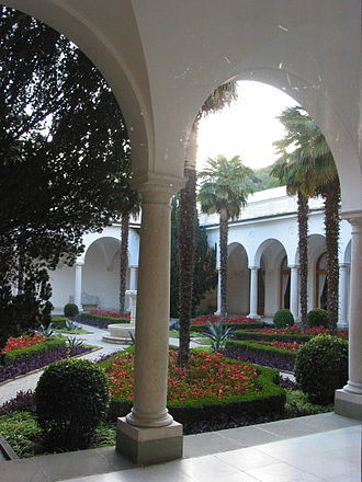 Livadia Palace - An Italian courtyard of the Livadia Palace