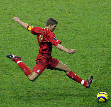 Steven Gerrard played in the tournament for Liverpool. Liverpool footballer Steven Gerrard.jpg