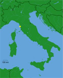 Location of Livorno in Italy