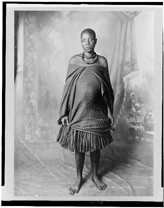 Lobengula - Lobengula's youngest daughter, ca. 1880-1910
